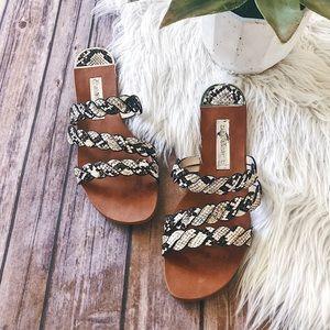 ZARA Braided Snake Print Sandals